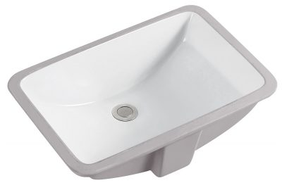 White Rectangle Sink – Min. Cabinet Size 23″ – Biscuit Color & Smaller Size Available